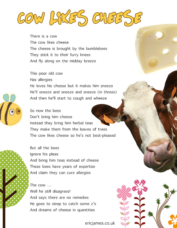 poem - cow likes cheese