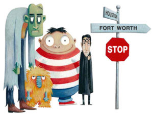 monsters signpost