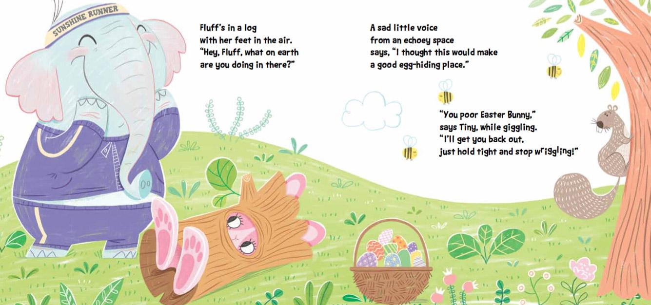 Tiny Elephant Easter Bunny